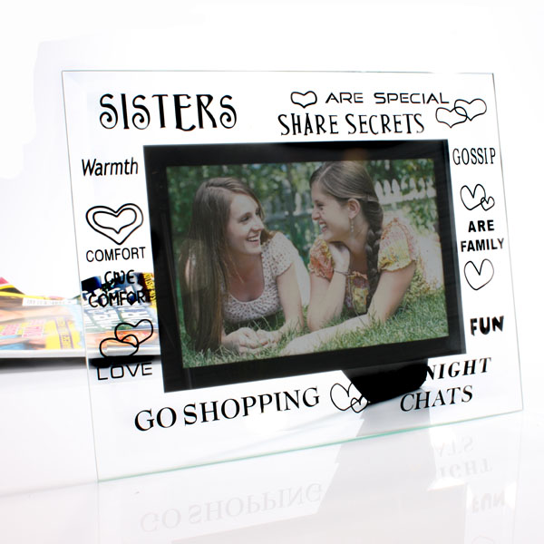Moments Sister Glass Frame - Sister Gifts