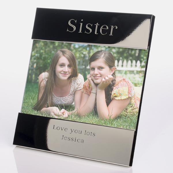 Engraved Sister Frame - Sister Gifts