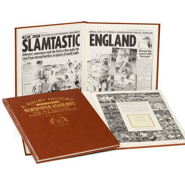 Personalised Rugby Six Nations Newspaper Book