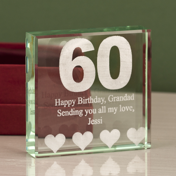 60th Birthday Gift Ideas, Personalised For Mum Dad Wife