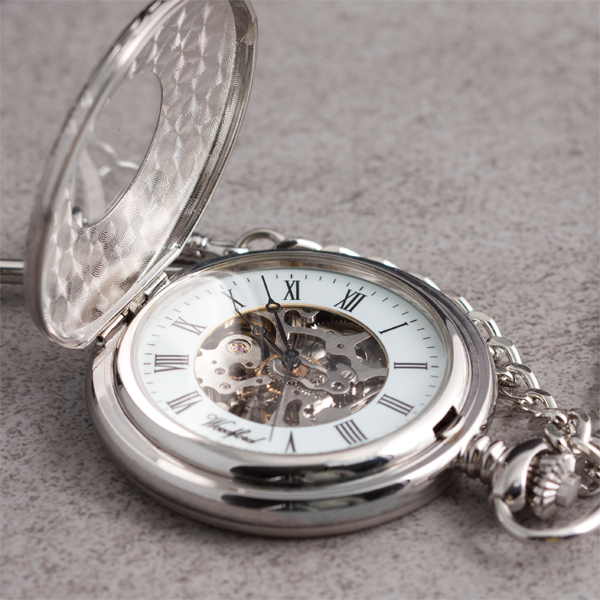 Skeleton Personalised Pocket Watch - Watch Gifts