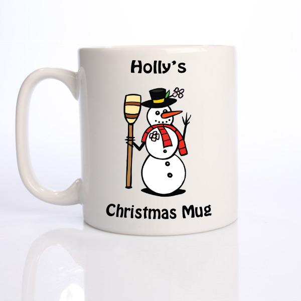 Personalised Christmas Mug - Snowman