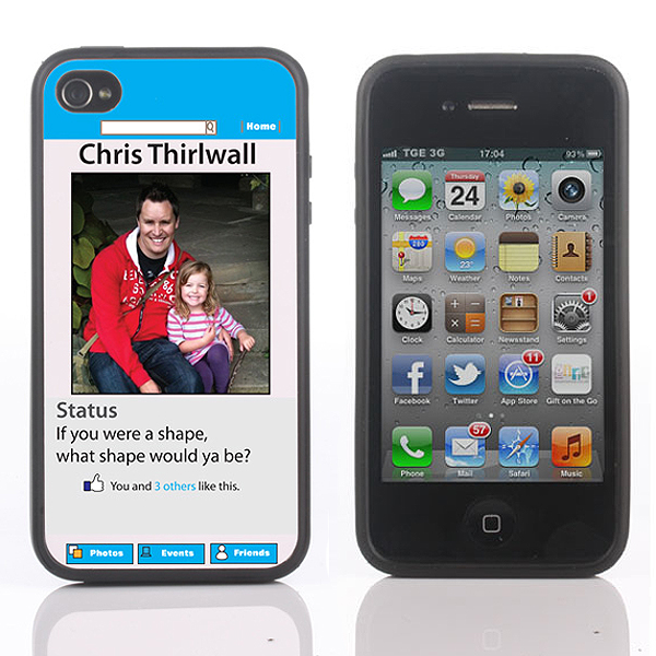 Personalised Social Network iPhone Cover for 4, 4S or 5 - Social Gifts