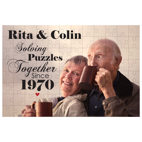 Personalised Solving Puzzles Together Jigsaw - Jigsaw Gifts