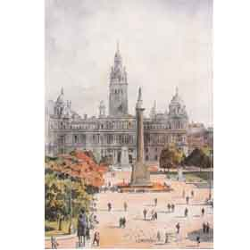 George Square, Glasgow by Alan Reed Overseas Delivery