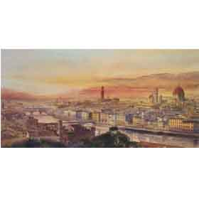 Florence from Piazza Michelangelo by Alan Reed Overseas Delivery