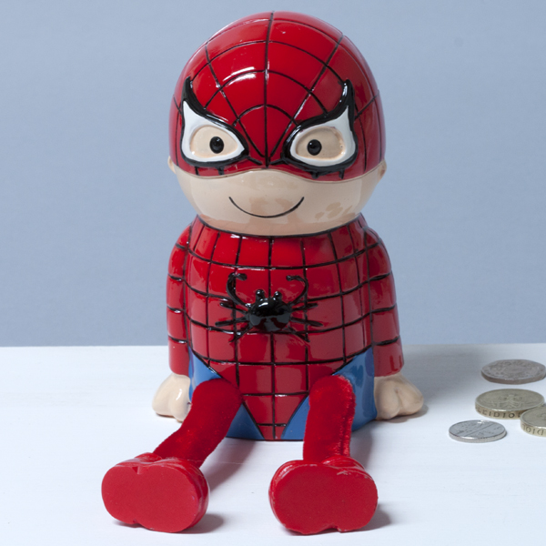 Super Hero Money Box - Spiderman Style - Marvel Gifts