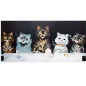 Bachelor Party by Louis Wain Overseas Delivery