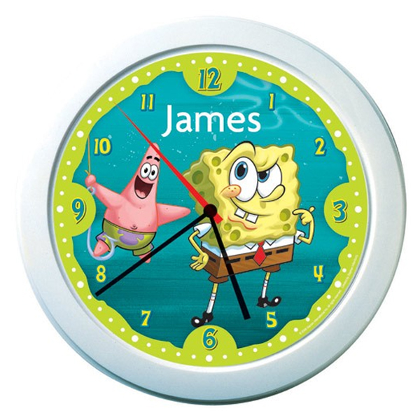 SpongeBob SquarePants Personalised Clock - Spongebob Squarepants Gifts