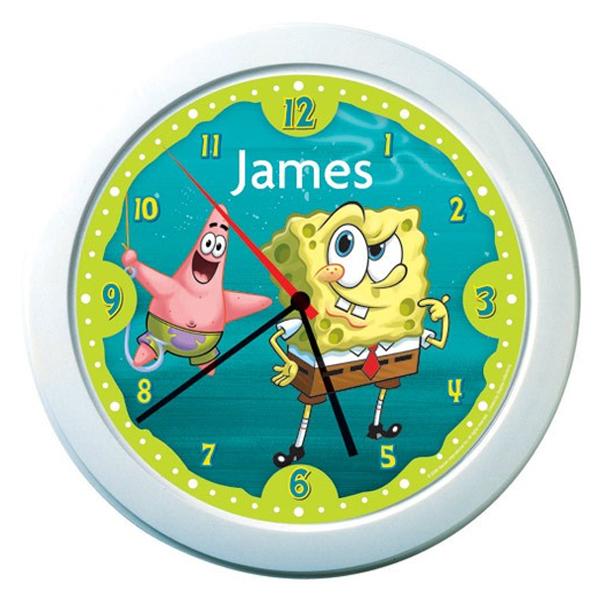 SpongeBob SquarePants Personalised Clock - Spongebob Gifts
