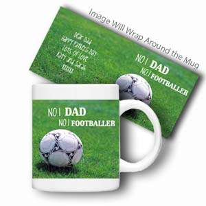 Personalised Sports Mug (No.1 Footballer)