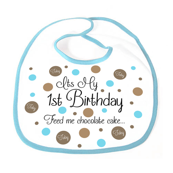 It's My 1st Birthday Personalised Boy Bib - 1st Birthday Gifts