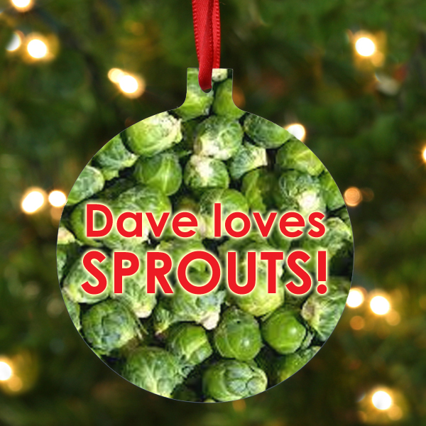 Personalised Sprouts Hanging Ornament - Ornament Gifts