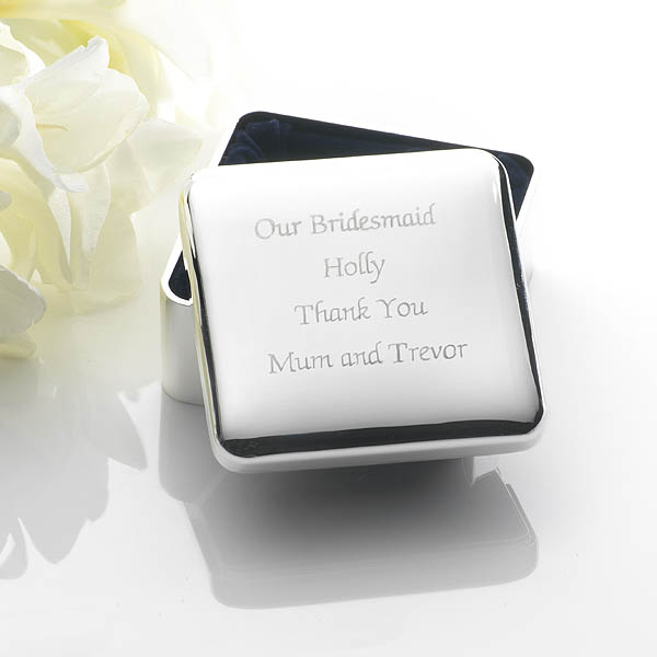 Engraved Square Jewellery Box - Jewellery Box Gifts