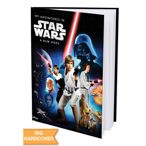 My Adventures in Star Wars IV: A New Hope - Personalised Hard Cover Book - Star Wars Gifts