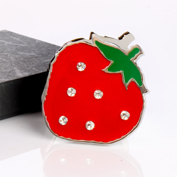 Personalised Strawberry Shaped Compact Mirror - Strawberry Gifts