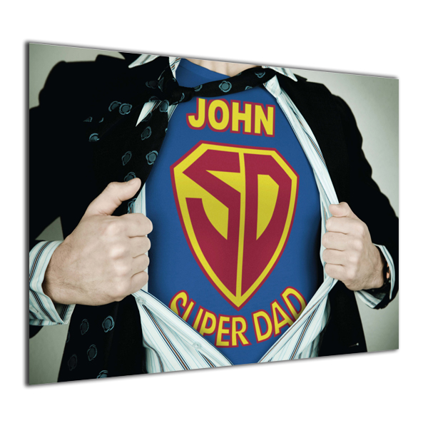 Personalised Super Dad Poster Black Frame - Dad Gifts