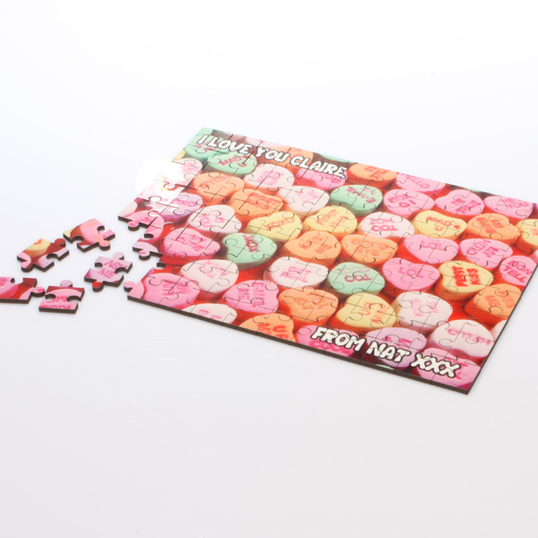Sweet Heart Message On A Jigsaw -  Birthday Your Proposal - Engagement Gifts