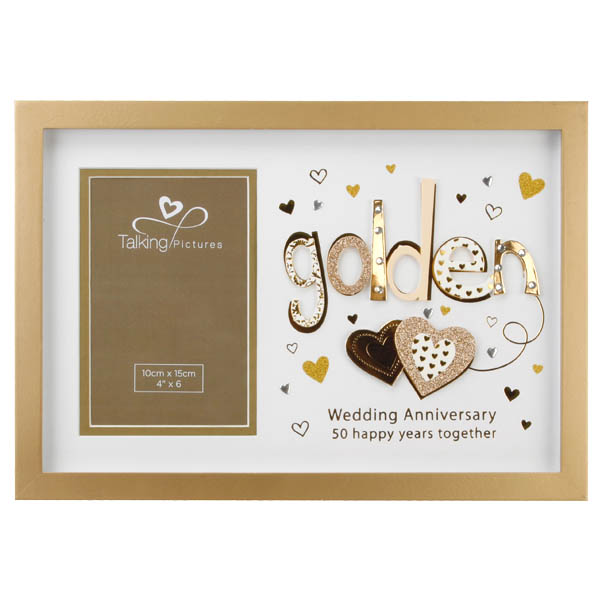 Talking Pictures Golden Anniversary Photo Frame - Pictures Gifts