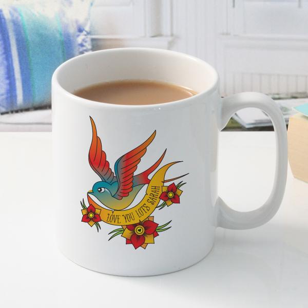 Personalised Tattoo Style Mug - Tattoo Gifts