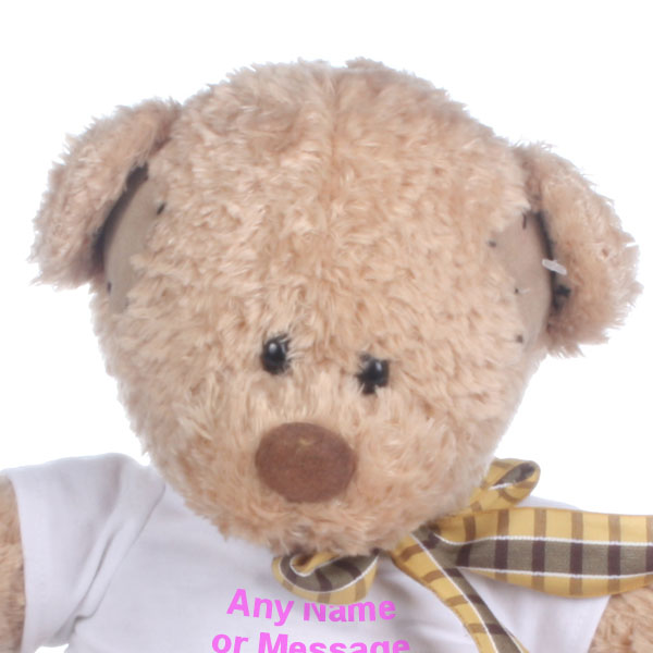 Personalised Patch Bear Soft Toy - Soft Toy Gifts