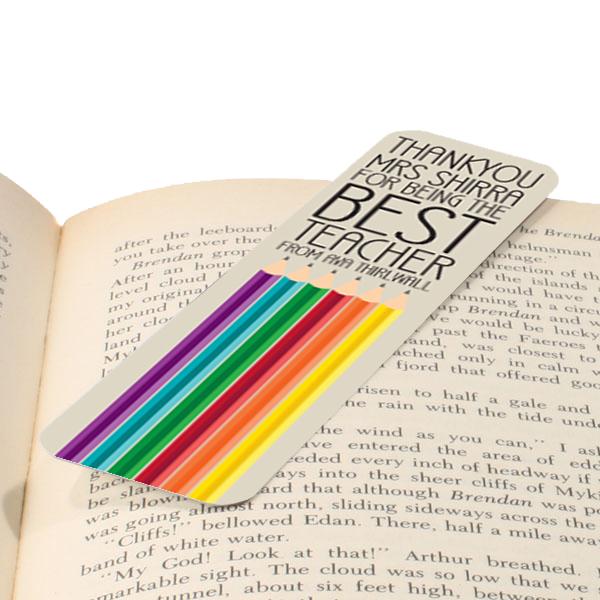 Personalised Best Teacher Pencil Bookmark - Teacher Gifts