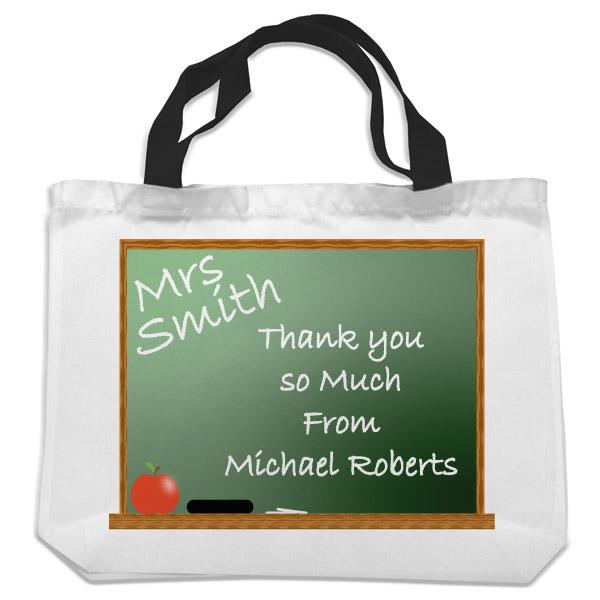 Personalised Teacher Shopping Bag - Chalkboard Design - Shopping Gifts