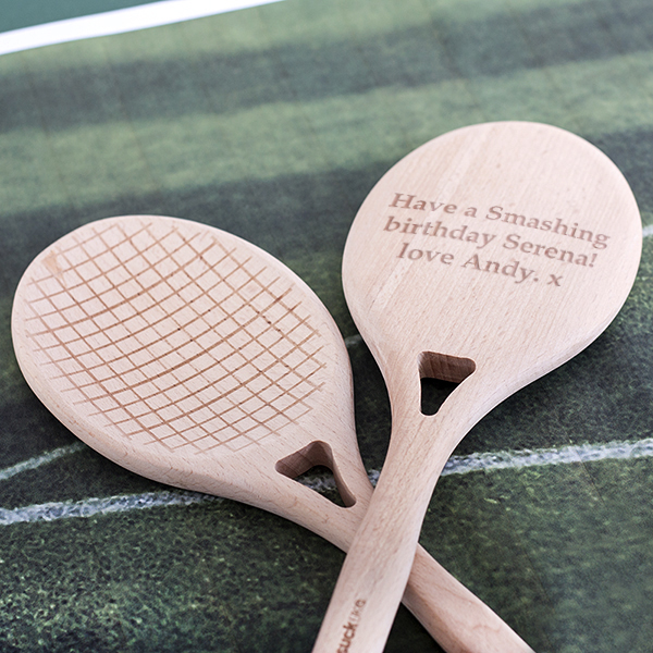 Personalised Tennis Salad Servers - Tennis Gifts