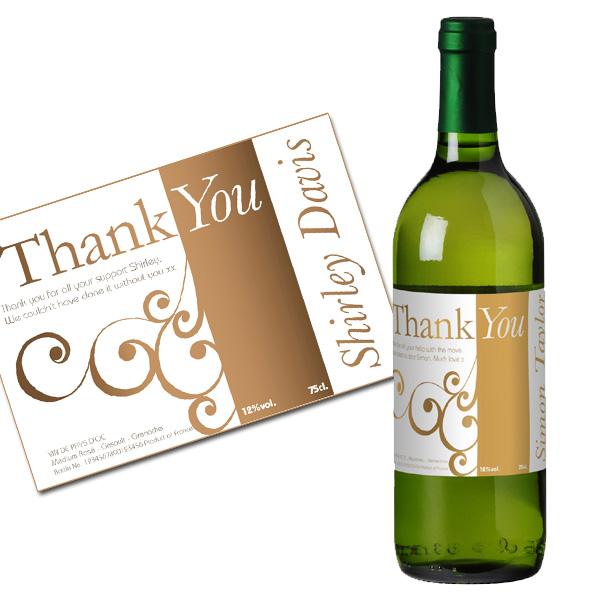 Personalised Thank You Wine Luxury Gift Box