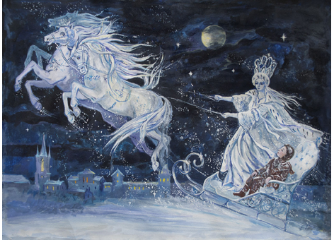 The Snow Queen illustration by Elena Ringo.