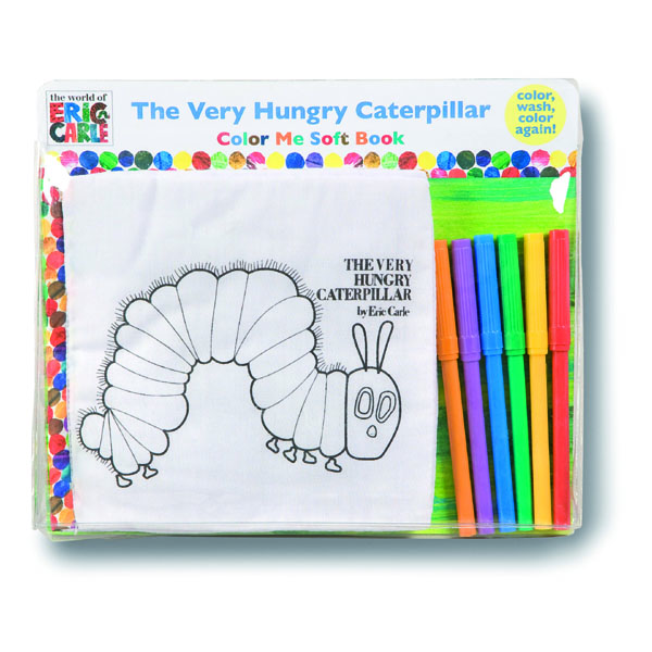 The Very Hungry Caterpillar Colour Me Soft Book - The Very Hungry Caterpillar Gifts