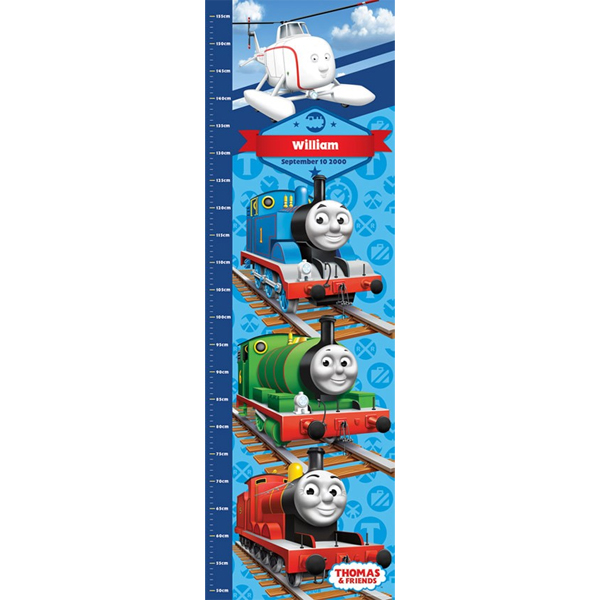 Personalised Thomas The Tank Engine Growth Chart