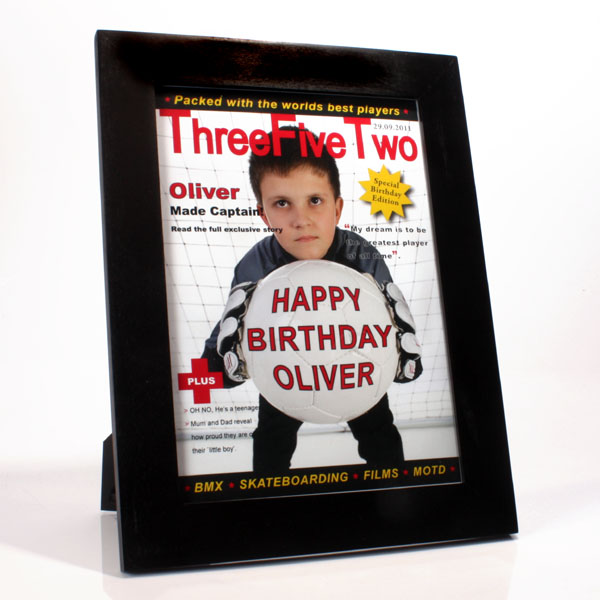Personalised Football Magazine Cover - Football Gifts