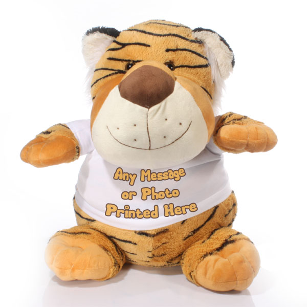 Extra Large Personalised Tiger Soft Toy - Tiger Gifts
