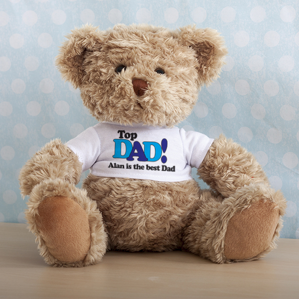 Top Dad Personalised Teddy Bear - Teddy Bear Gifts