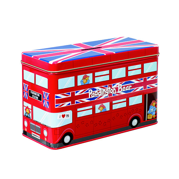 Paddington Bear Tin Bus Money Box - Money Gifts
