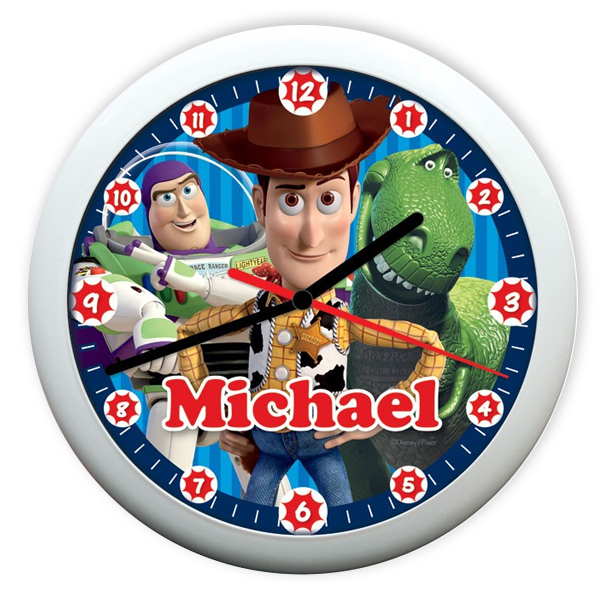 Personalised Disney Pixar Toy Story 3 Heroes Clock