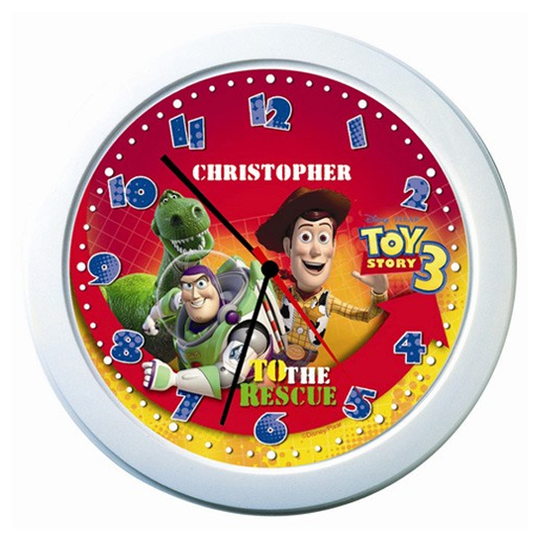 Disney Pixar Toy Story 3 Personalised Clock - Toy Story 3 Gifts