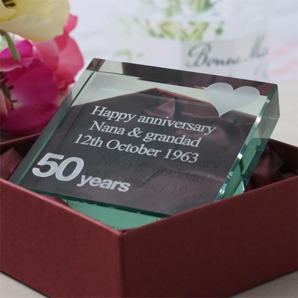 50th (Golden) Anniversary Keepsake - 50th Gifts