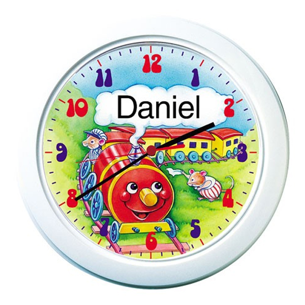Train Set Personalised Clock - Train Gifts