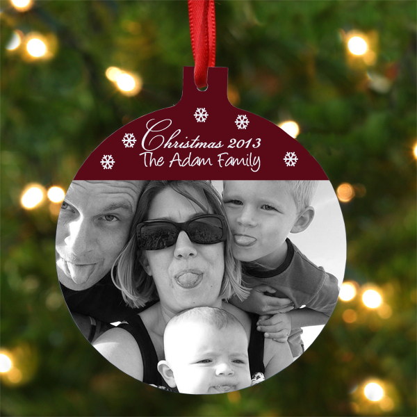 Personalised Hanging Round Family Photo Ornament - Ornament Gifts