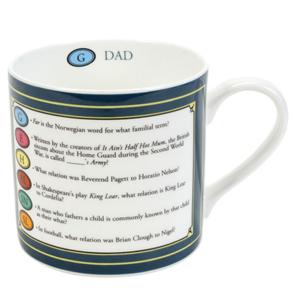 Trivial Pursuit Dad China Mug - Dad Gifts