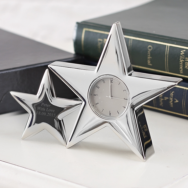 Personalised Twin Star Clock