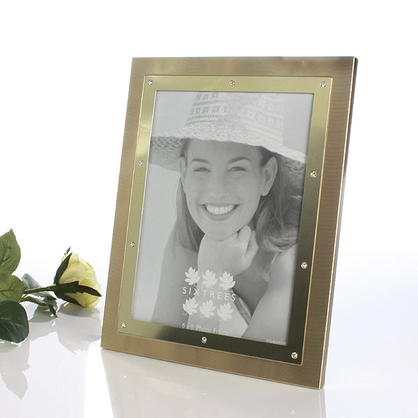 Two Tone Gold Jewels Photo Frame - Photo Frame Gifts