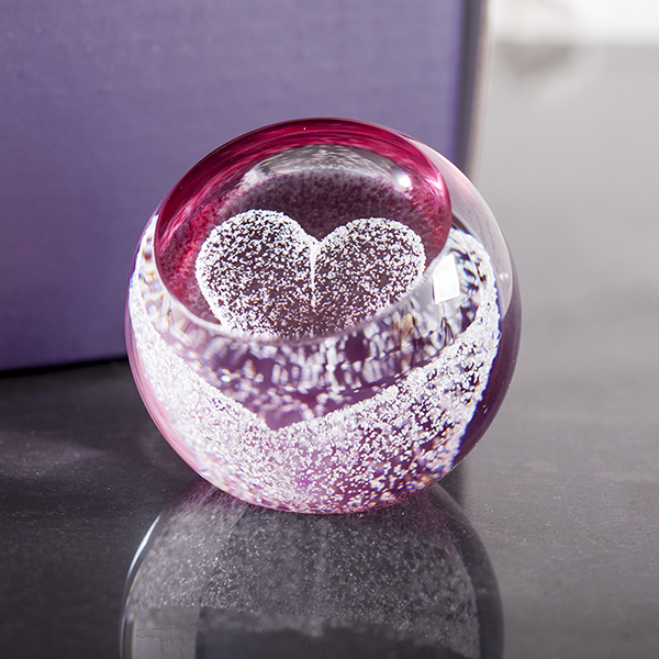 special moments ruby heart paperweight by caithness glass