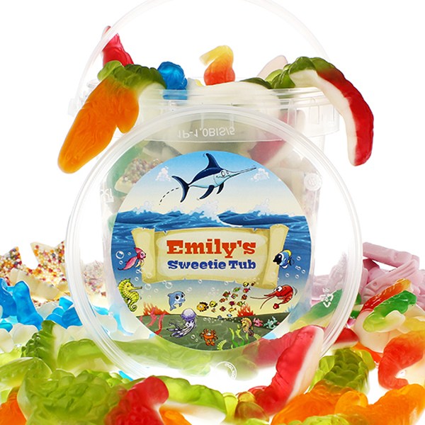 Personalised Kids Sweetie Tub - Under The Sea - Sea Gifts