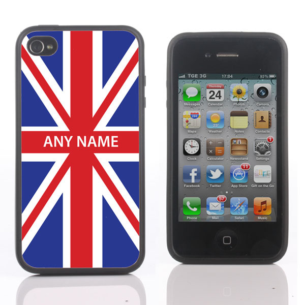 Personalised Union Jack iPhone Cover - Available for 4/4S and 5 - Iphone Gifts