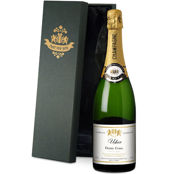 Usher Personalised Champagne Gold Gift Carton