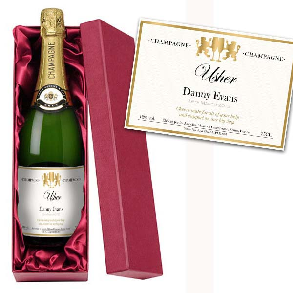 Usher Personalised Champagne Luxury Gift Box