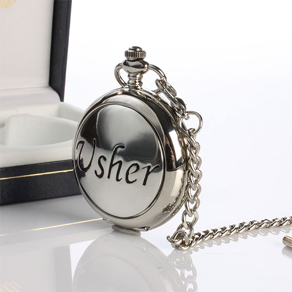 Usher Pocket Watch With Personalised Gift Box